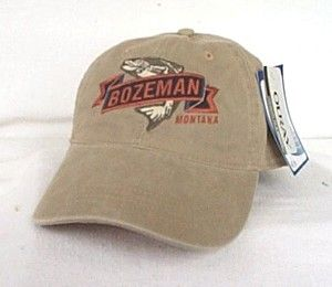 BOZEMAN MONTANA* Trout fly fishing Ball cap Baseball hat