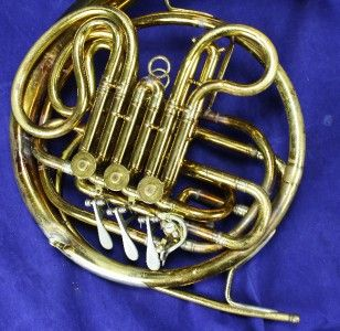 Pair of Double French Horns Band Instrument Repair Parts Brass