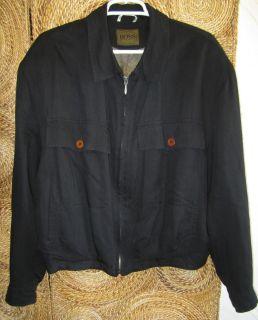 Boss Hugo Boss Black Zip Up Jacket Size 42R L XL