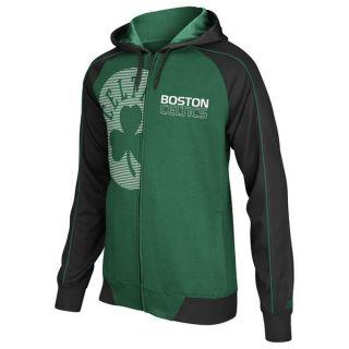 Boston Celtics Sz L NBA Pindot Full Zip Fleece Hoody