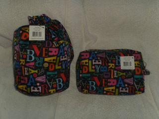 Vera Bradley Frill A to Vera Ditty Bag Purse Tote and Cosmetic Case