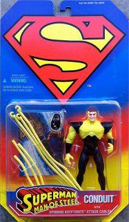 Superman Man of Steel Conduit Action Figure Kenner Toy 1995