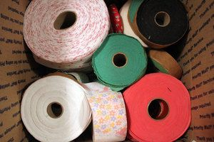 roll 1 2 inches in width, variety for weaving or making braided rugs