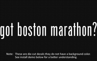 This listing is for 2 got boston marathon? die cut decals.
