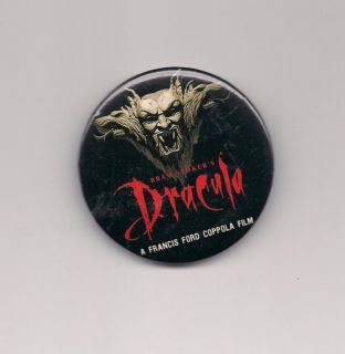 Bram Stokers Dracula Movie Promotional Button Badge Pin 1992