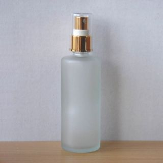 100ml Frosted Glass Bottle Gold Atomizer Perfume Spray