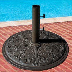 Market Umbrella Base Stand 50 lbs Cast Iron Bronze Coat