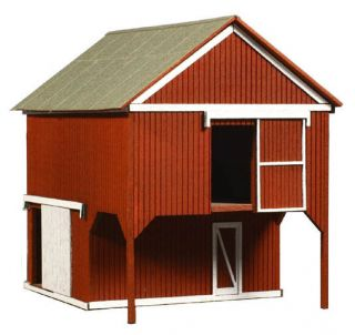 Laserkit Xpress Loft Barn HO Scale Kit 794 Very Nice