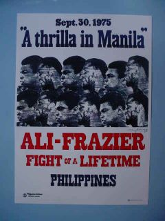 1975 Manila Muhammad Ali vs Joe Frazier Boxing Heavyweight Title Fight
