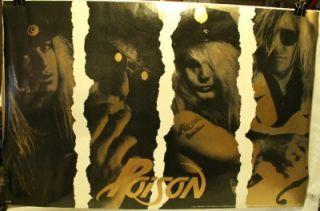 1990 Poison 22 X 34 Vintage Poster New #P7120 Bret Michaels