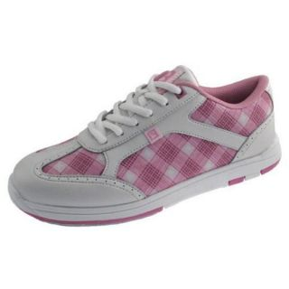 Lady Brunswick Pink Plaid Bowling Ball Shoes Sizes 6 11