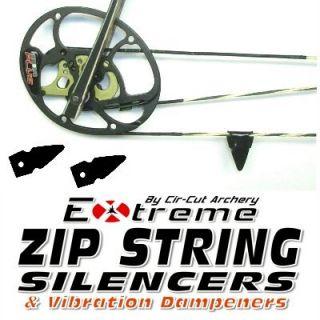 Archery Zip Bowstring Silencer Vibration Dampener 1pr
