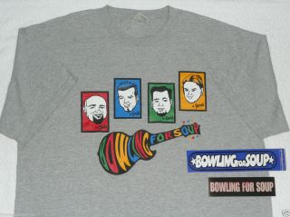 Vintage Bowling For Soup Monkees T shirt Sticker Lets Do It For Johnny