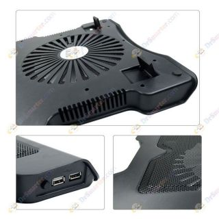 USB Metal Laptop Cooling Pad 1 Super Silent Fan Stand