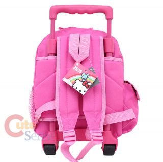 Hello Kitty School Roller Backpack Rolling Bag Medium Pink Bows 4