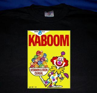 Kaboom T Shirt Vintage Breakfast Cereal Box Art Kaboom Clown T Shirt