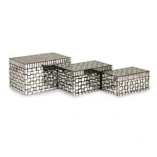 Mosaic Mirror Decorative Box Boxes Storage Silver Mirrors New