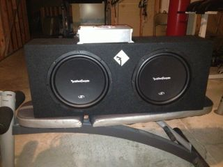 Rockford Fosgate p2 12 Woofers in Enclosed Box w/ Sony 1400w AMP