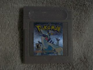 Gameboy Pokemon Silver Version Nintendo Game Boy, 2000 Game cartridge