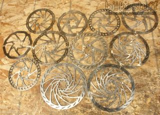 Lot of 11 Used Disc Brake Rotors 6 Bolt 160 185 203
