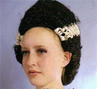 Bride of Frankenstein Black White Hair Wig Costume New
