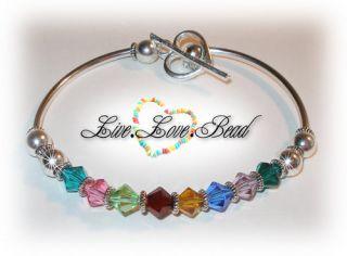 Birthstone Bracelet Swarovski Crystal Mothers Day 1 12