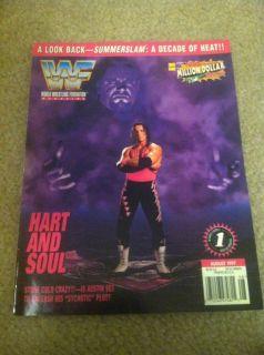 Hitman Bret Hart Undertaker WWF Wrestling Magazine August 1997 WWE WCW