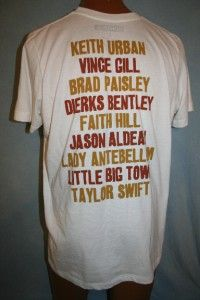 Keith Urban 2009 Country Music Hall of Fame Benefit Concert T Shirt