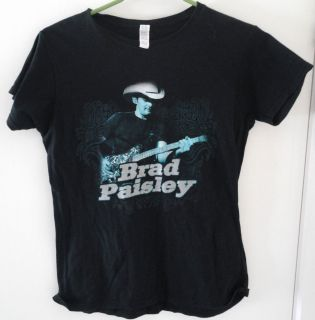 Brad Paisley Ladies SEXY XL M concert ss shirt country hunk guitar