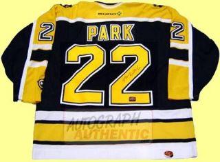 Autographed Brad Park Boston Bruins Jersey Black