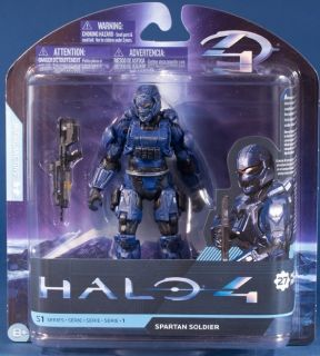 2012 McFarlane Halo 4 Series 1 Blue Spartan Soldier Action Figure w