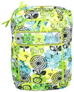 Vera Bradley Limes Up Laptop Backpack Book Bag Tote School New
