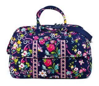 Vera Bradley Ribbons Grand Traveler Duffle Luggage Bag New