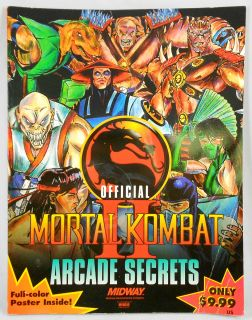 Brady Games Mortal Kombat II Official Arcade Secrets Guide Book