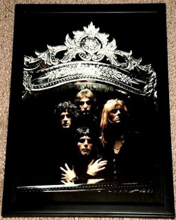 QUEEN FREDDIE MERCURY BRIAN MAY FRAMED GROUP PORTRAIT TRIBUTE