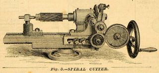 Cutter Vintage Machine Brainard Milling Hyde Park MA Antique