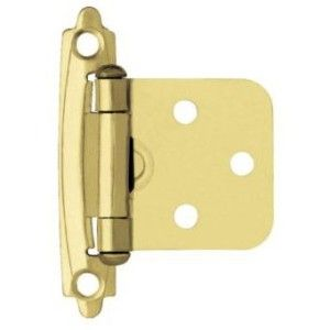 brainerd polished brass cabinet hinges flush overlay