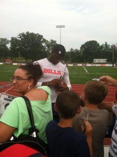 Buffalo Bills Team Signed Autograph Football Kyle Mario Williams