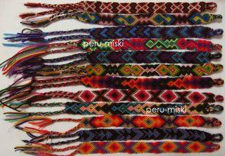 20 FRIENDSHIP BRACELETS from CUZCO, PERU   Handmade with Wool