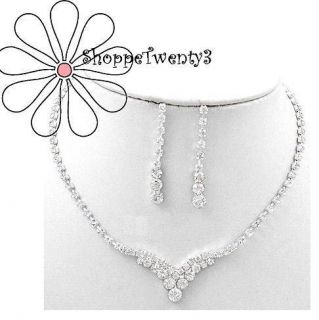 Necklace Set 13 17 Silver Bridal Bridesmaid Jewelry New Boxed
