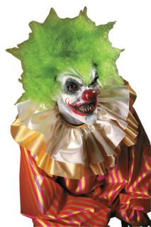 Adult Crazy Clown FX Halloween Costume Make Up Kit with Latex