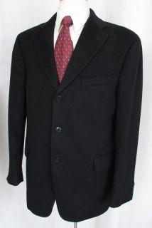 Arnold Brant 100% Cashmere Blazer Black 3 Button 42R PERFECT