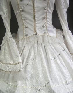 Civil War Victorian Brocade and Cotton Ball Gown Dress Prom 188 S