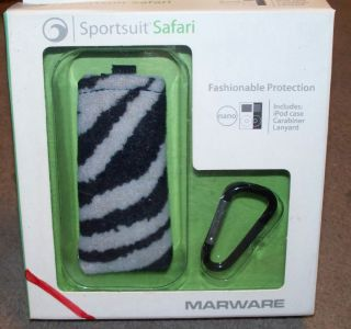 Marware Sportsuit Safari iPod Case Zebra Print Animal Stripe Fuzzy NIP