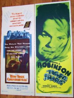 EDWARD G ROBINSON, BRODERICK CRAWFORD + MORE! 4 Original CRIME CLASSIC