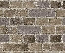 Grey Brick Wall Wallpaper / Embossed Textured Bricks / SF084795