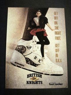 1990 British Knights Cute Girl in BK Shoes & Black Tights Dancing 90s