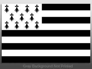 Brittany Flag Sticker Celtic Ireland Decal Irish Flags