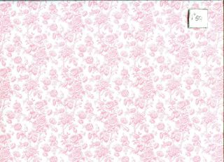 "Fashion Doll ""Tiffany"" Pink 13BR2 Wallpaper 2pc"