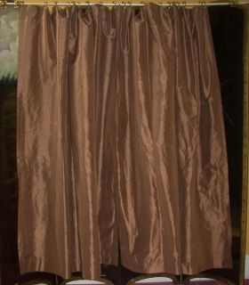 Paris Apt French Country Victorian Brown Silk Drapes Curtains